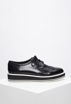 Faux Leather Platform Brogues - Womens shoes and boots   shop online   Forever 21 - 2000172263 - Forever 21 EU English