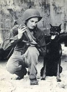 WWII Guardsman with Doberman