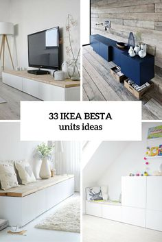 Ikea Besta units in the interior design creatively integr .- Ikea Besta Einheiten in die Inneneinrichtung kreativ integrieren Ikea Besta creatively integrate units into the interior - Ikea Hackers, Ikea Hack Besta, Diy Casa, Ikea Furniture, Furniture Ideas, Hallway Furniture, Furniture Companies, Office Furniture, Bedroom Furniture