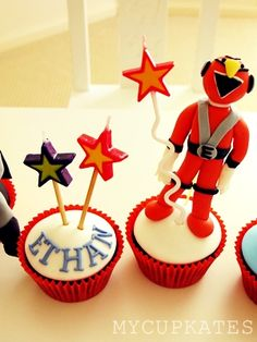 Batman Cupcake Power Ranger These Are For My NephewEthan Who Loves Super Hero I Made Them In Big Rush Because