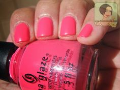 #ChinaGlaze City Flourish Collection in Peonies & Park Ave #neon #nails