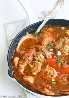 Chicken Shrimp & Sausage Gumbo — a rich, flavorful gumbo with authentic flavors; loaded with chicken, sausage, shrimp and crab legs. Shrimp And Sausage Gumbo, Shrimp Gumbo, Seafood Gumbo, Seafood Dishes, Chicken Sausage, Seafood Boil, Seafood Buffet, Shrimp Soup, Chicken Soups