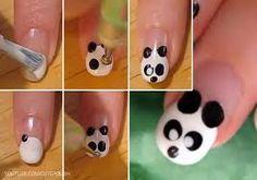 Resultado de imagen para dibujos de animales faciles de hacer paso a paso Girls Nail Designs, Nail Polish Designs, Baby Nails, Girls Nails, Panda Nail Art, Manicure, Nail Studio, Birthday Nails, Nail Art Diy