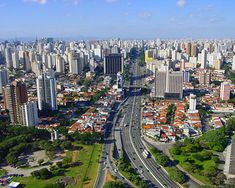 MILES & MILES of skyscrapers!  New York has NOTHING on this city!!  Sao Paulo, Brazil