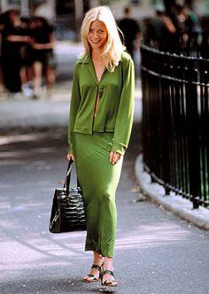 Green wardrobe worn by Gwyneth Paltrow as Estella Havisham in 1998 film Great Expectation. #starringnyc