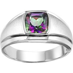 love this stone!  Sterling Silver Mystic Topaz Ring