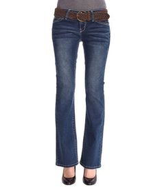 Another great find on #zulily! WallFlower Jeans Emily Belted Legendary Bootcut Jeans by WallFlower Jeans #zulilyfinds