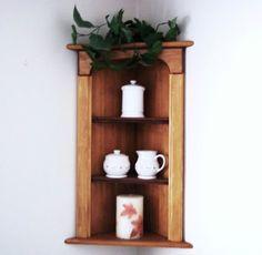 Corner Wall Shelf by daleswoodandmore on Etsy, $135.00