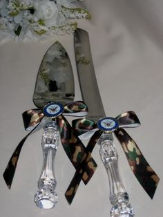 camouflage wedding supplies - Use Josh's old ones and tie camo ribbon...Clayton and Santana.