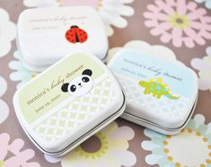 again, the one with the bee! - Baby Animals Personalized Mint Tins  wedding favors