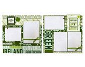 Happy St Patrick's Day - Two Coordinating Premade Scrapbook Pages