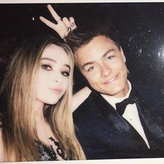 Sabrina Carpenter and Peyton Meyer