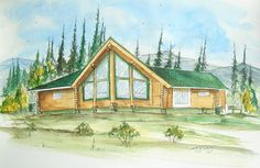 Braun's house  Watercolor on Paper   by Jewel Buhay