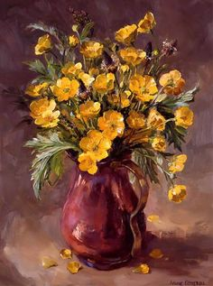 Shop :: Buy the beautiful flower paintings and prints of Anne Cotterill - published by Mill House Fine Art Publishing Ltd Art Floral, Modern Art Paintings, Beautiful Paintings, Indian Paintings, Oil Paintings, Landscape Paintings, Flower Paintings, Watercolor Flowers, Watercolor Art