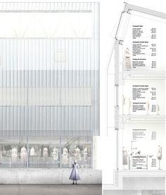 facade fragment + section [durisch + nolli] Coupes Architecture, Architecture Panel, Architecture Graphics, Architecture Student, Architecture Drawings, Architecture Details, Architecture Diagrams, Architectural Section, Architectural Presentation
