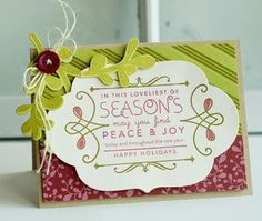 Loveliest Of Seasons Card by Betsy Veldman for Papertrey Ink (October 2012)