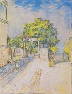 Van Gogh - Weg mit Eingang zu einem Aussichtspunkt, 1887