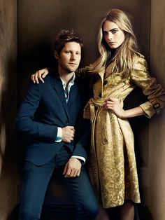 Christopher Bailey and Cara Delevingne by Tomo Brejc Cara Delevingne Style, Christopher Bailey, English Fashion, Queen, Celebs, Celebrities, I Fall In Love, Savannah Chat, Brows