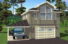 Garage Plan chp-46779 at COOLhouseplans.com