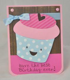 The Pink Stamper: Something to Celebrate Cupcake Card!!