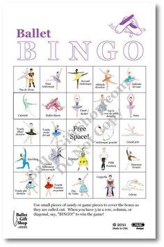 for friend week Ballet Terms, Ballet Class, Ballet Dance, Dance Class Games, Dance Camp, Arabesque, Bingo, Dance Crafts, Dance Technique