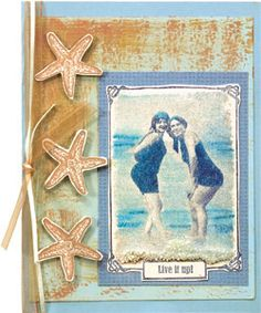 Glue Sand to your card for texture and interest