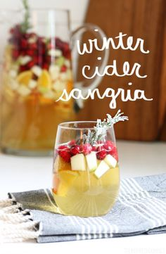 Winter Cider Sangria Recipe - The Inspired Room
