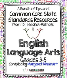"""FREE download with tons of Common Core tips and freebies! """"Common Core English Language Arts: Free Back to School eBook for grades 3 - 5"""