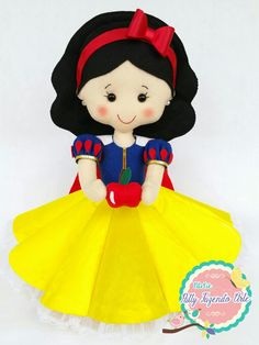 Branca de Neve  #feltro, #felt, #feltrosantafe, #brancadeneve, #brancadeneveemfeltro