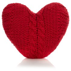 George Home Red Knitted Heart Cushion | Cushions & Throws | ASDA direct