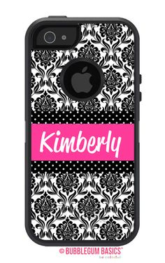 Bubblegum Basics has a complete line of Monogrammed OtterBox Defender cases with fast shipping and great prices! Check out our Damask Band case today! Iphone 5c Cases, Mobile Phone Cases, Iphone 5s, Ipod 5, Samsung Galaxy S5, Bubble Gum, Ipod Touch, Damask, Band