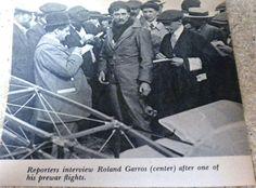 RARE VINTAGE BOOK PHOTOGRAPHS OF ROLAND GARROS WW1 FIGHTER PILOT