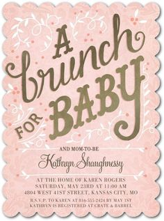 Combine your two loves- brunch and your new bundle of joy! Welcome baby and treat mom-to-be with a brunch-themed shower.
