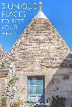 5 UNIQUE PLACES TO REST YOUR HEAD | Above Us Only Skies - If you like to stay somewhere different on your travel adventures then why not consider one of these five unique places to rest your head…