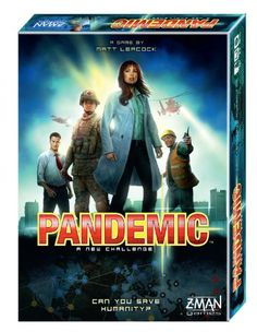 Pandemic Board Game - one of the games Brett and Ian play. A really fun game and unique in that it's cooperative rather than competitive. This is also why my husband hates it.