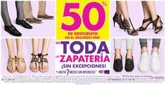 Las tiendas Suburbia tienen una nueva promoción en toda la zapatería para toda la familia: 50% de descuento al comprar el segundo par de zapatos (sin excep