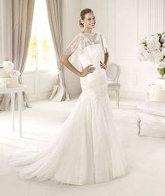 For Pronovias offers wedding dresses including strapless bustier dresses, one shoulder-dresses and even capes. Wedding Dresses Nz, Wedding Dress 2013, Pronovias Wedding Dress, Elegant Wedding Gowns, Wedding Dress Chiffon, Luxe Wedding, Bridal Dresses, Bridesmaid Dresses, Dresses 2013