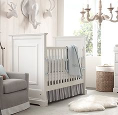 Baby boy nursery minus animal heads
