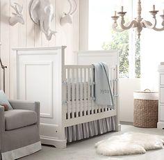Baby boy nursery minus animal heads