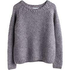 Zelda knit sweater Brown Light ❤ liked on Polyvore