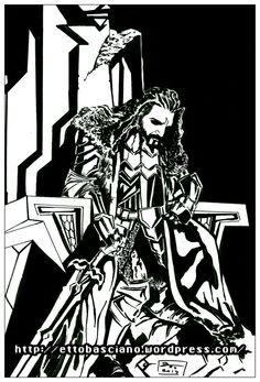 #Inktober #Sketch #Disegno #Draw #Inking #TheHobbit #Thorin #ThorinOakenshield #LordOfTheRings #JRRTolkien #Comics #comicbook