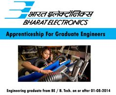 Apprenticeship Training For Graduate Engineers @ BEL, Bangalore Stipend: Rs.5000/month Last Date to apply: December 24, 2016