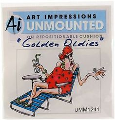 Art Impressions Rubber Stamp Golden Oldies Edna - Google Search