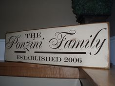 Custom Sign  Personalized with your last by defineyourspacevinyl, $32.00