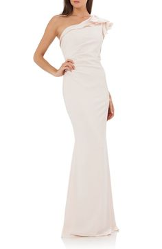 Carmen Marc Valvo Infusion One-Shoulder Gown available at #Nordstrom