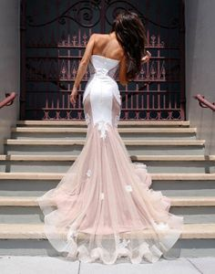 prom dresses,2017 prom dresses,mermaid prom dresses,mermaid party dresses,pink prom dresses,pink prom dresses with sweep train,evening dresses,charming evening dresses,vestidos