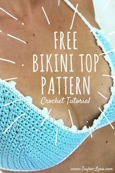 Simply Cute Crochet Bikini Top Pattern This crochet bikini top is perfect for all your summer activities! This is a very simple crochet bikini top made with only a few basic stitches, yet is absolutely beautiful