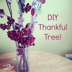 thankful tree DIY