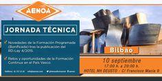 """AENOA organiza el próximo 10 de septiembre una jornada técnica sobre """"Novedades en la Formación Programada tras el RD 4/2015""""."""