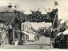 Camden Road dressed for the Queen's Coronation.